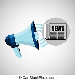 megaphone concept news journal design