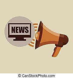 megaphone concept news online pc design