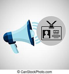 megaphone concept tv news design