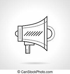 Megaphone flat line vector icon