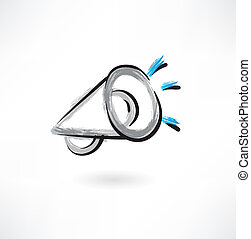 megaphone grunge icon
