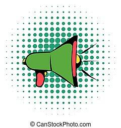 Megaphone icon, comics style