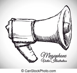 megaphone icon design, vector illustration eps10 graphic