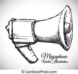 megaphone icon design, vector illustration eps10 graphic