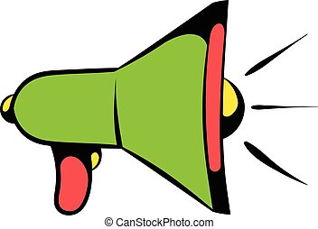 Megaphone icon, icon cartoon