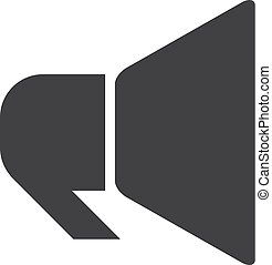 Megaphone icon in black on a white background. Vector illustration