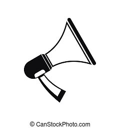 Megaphone icon in simple style