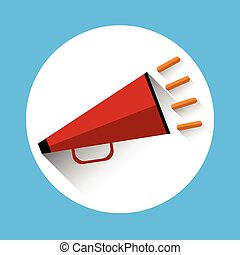 Megaphone Icon Loudspeaker Logo Flat Vector Illustration