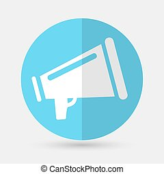 Megaphone icon on a white background
