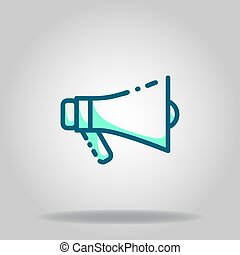 megaphone icon or logo in  twotone - Logo or symbol of ...