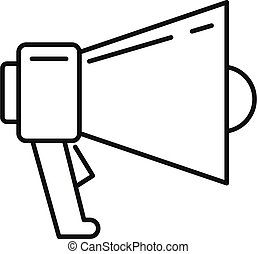 Megaphone icon, outline style