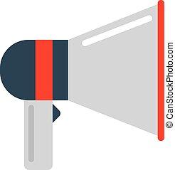 Megaphone icon vector illustration.