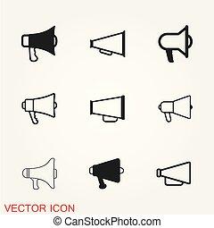 Megaphone icon vector, stock flat illustration, design style