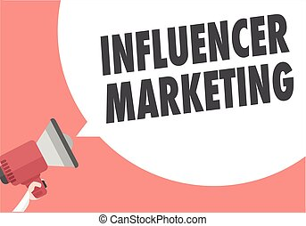 Megaphone Influencer Marketing - minimalistic illustration...