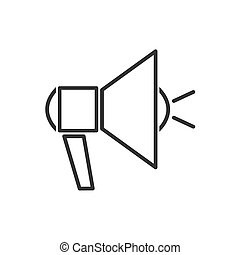 Megaphone line icon on a white background