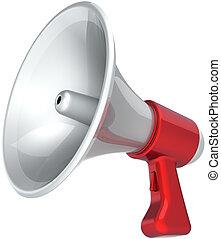 Megaphone loudspeaker message - Megaphone news message ...