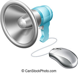 Megaphone mouse concept - Megaphone computer mouse concept...