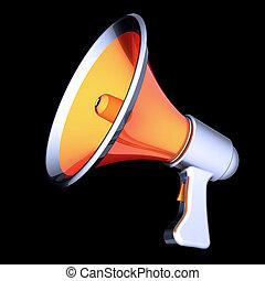 Megaphone news blog propaganda communication loudspeaker