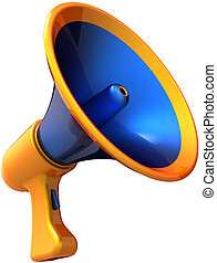 Megaphone news speech - Megaphone voice communication...
