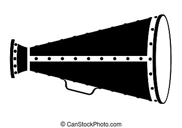 megaphone old retro vintage icon stock vector illustration