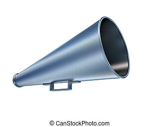 Megaphone - Old style megaphone over white - 3d render