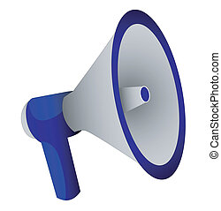 megaphone on a white background