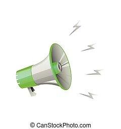 megaphone on white background