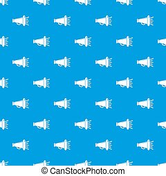 Megaphone pattern seamless blue