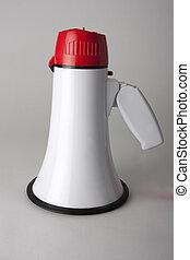 megaphone shot on grey background