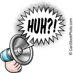 Megaphone Speech Bubble Cartoon