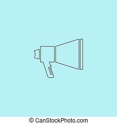 Megaphone symbol - Megaphone. Simple outline flat vector...