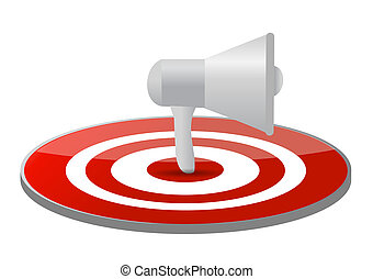 megaphone target illustration design isolated