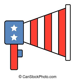 Megaphone vector, United state independence day related icon