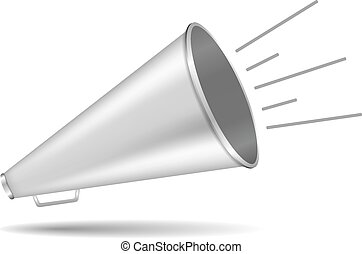 Megaphone on white background, vector eps10 illustration