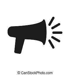 Megaphone vector flat icon on white background.