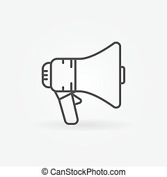 Megaphone vector outline icon