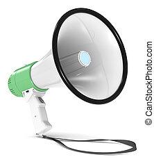 megaphone., vert