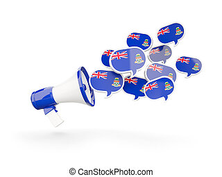 Megaphone with flag of cayman islands