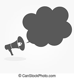 Megaphone with Speech Bubble Vector Illustration