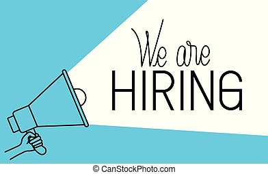 megaphone with we are hiring message