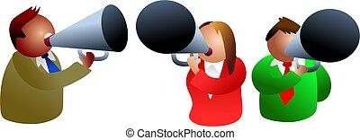 megaphones - icon executives