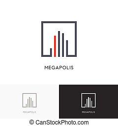 Megapolis city logo