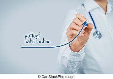 megelégedettség, orvos, türelmes, megjavít