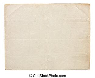 meget, gamle, blank, avis