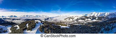 Megeve (Megeve ) ski station in Haute Savoie in French Alps of France