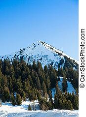 Ski station in Megeve (Meg?ve)  in Haute Savoie in French Alps of France