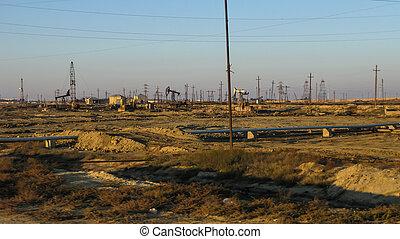 megfog, bányászás, olaj, baku, azerbajdzsán