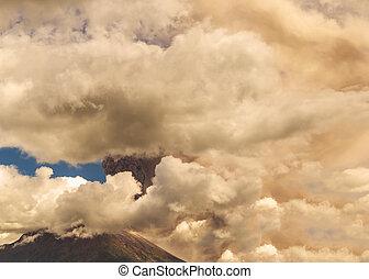 megfulladás, felrobbanás, tungurahua, vulkán
