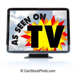 meghatározás, televízió, tv, -, magas, hdtv, látott