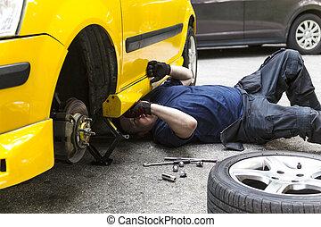 megjavítás, autó